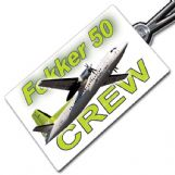 AIR BALTIC Fokker 50 - Crew Tag
